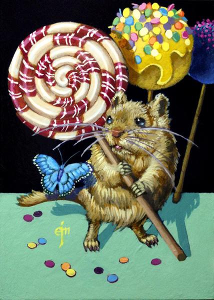Erich Moffitt---Confetti Cake Pop Gerbil